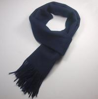 Sherlock Scarf Dark Blue Wool Scarf Costume Replica Sherlock Cosplay Prop Accessories With tasseled ends