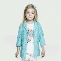 2014 new D girls lace coat kids coat girls princess cloth girls fashion wear