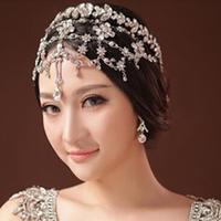 Bridal Rhinestone Headband Wedding Head Chain Hair Jewelry Forehead Jewelry Quinceanera Tiaras And Crowns Pageant New WIGO0333
