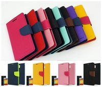 Leather Case for Samsung Galaxy Note 2 II N7100 MERCURY Fancy Diary Goospery Stand Wallet Cover With Card Slots Flip