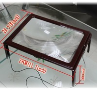 A4 Full Page Large Hands Free Magnifier Magnifying Glass Lens for Reading w/ Cord