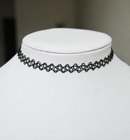 Vintage hippy stretch tattoo choker necklace elastic chocker Henna 80s 90s Retro Gothic Punk Elastic Jewelry