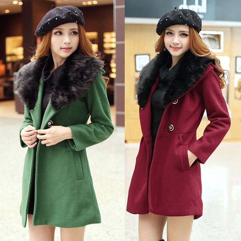 Женская одежда из шерсти Women coat Faux Md LY1254 2014 coat