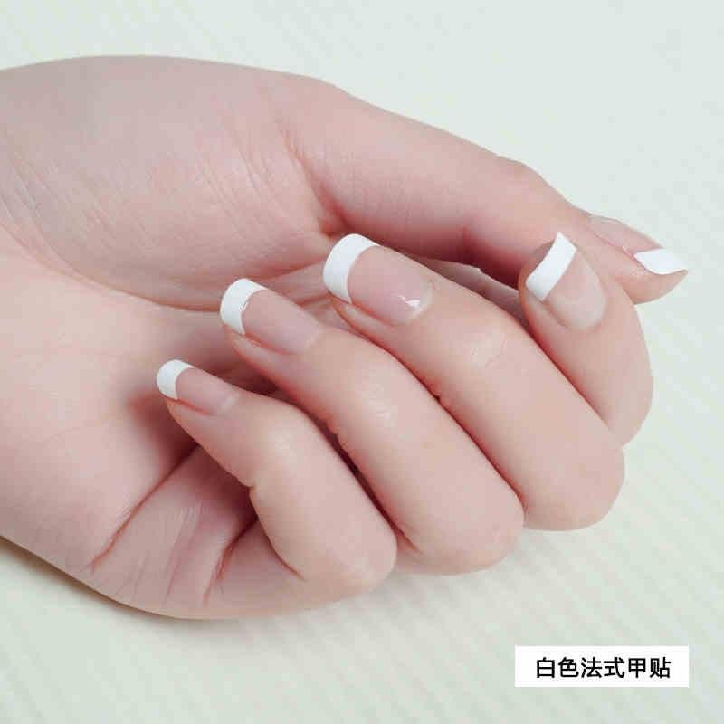 Hot sale set fake nails french nail tips white nails tips 500pcs acrylic nail design pictures for fingernails(China (Mainland))