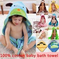 2014 100% cotton baby bath towel cute animal pattern children's bathrobe infant robe holds  Free Shipping