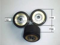 Free Shipping  4X10X14mm vinyl cutter  pinch roller  cutting plotter wheel paper wheel press roller MIMAKI pinch roller