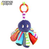 Factory Price Mamas&Papas Linkie Octopus Rattle Baby Soft Plush Animal Take Along Toy With Safty Mirror BB Sound Kid Bed Hang