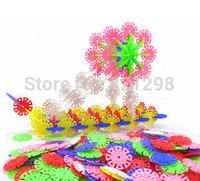 Free Shipping 150pcs/lot snowflake blocks DIY Change splicing intelligence fancy toy