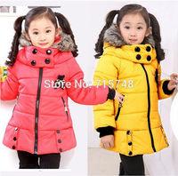 2014 Korean version of the new spring Dongkuan winter children coat girls coat free shipping