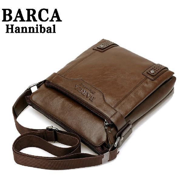 New 2014 New Style Genuine Leather Men Messenger Bags Shoulder Bags BARCA Hannibal Handbags Men Travel Bags(China (Mainland))