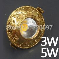 factory price 10pcs/lot 3W 5w Europe COB ceiling lights 85~100LM/W AC85~265V wholesale diameter 100cm cut size 70-75cm wholesale