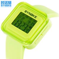 Children watch. Boys and girls in primary school fashion jelly watch. Luminous waterproof watch