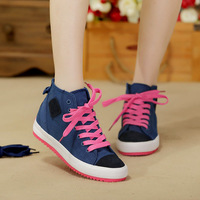 2014 women's shoes canvas shoes fashion casual flat preppy style women's kilen running shoes