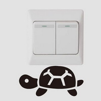 4pcs creative switch stickers,small tortoise bedroom parlor wall stickers Free shipping