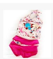 Baby lovely artoon girls swimsuit //Favorite girl mother necessary boxer fission children bathing suit