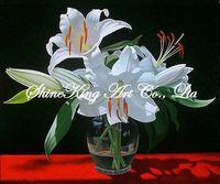 handpainted realistic flower oil painting on canvas modern art home decor HHR1112 50x60cm
