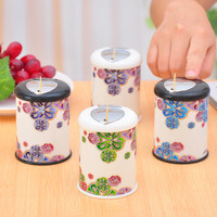 2014 new photoret flower automatic toothpick holder tube print hand pressing creative fashion toothpick box h204 free shipping