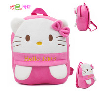Gift for baby 1pc 30cm cartoon pure pink hello kitty plush backpacks infant super cute princess children shoulder bag toy