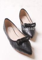 European Metal buckle soft comfortable all-match female ballet flats dancing shoes women's shoes large siz 35--41