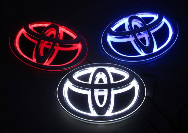 5D car logo light for Toyota Camry 13*9cm car badge light auto led logo light auto emblem led lamp Free Shipping(China (Mainland))