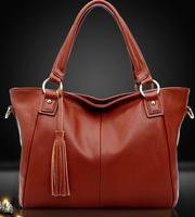 2014 Promotion women handbag desigual women messenger bags tassel shoulder bag vintage leather handbags totes