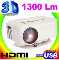 By HK POST UC30 Home Theater 3D Cinema 600lumens 800:1 1080P HD HDMI USB Digital Multimedia LCD LED Mini Projector Wholesale