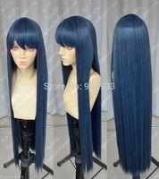 Wholesale shops **@@  New Cosplay wig Danganronpa Maizono Sayaka Blue Black wig