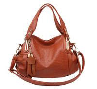 2014 Promotion tassel pu leather women messenger bags desigual crocodile women handbag famous brand tote bags