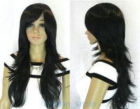 Stylish Long Straight Wavy Black Women's Wig