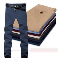 New fall men's casual pants 100% cotton fashion men's casual pants size 29-36 color 8 colors