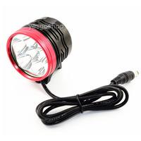 Bicycle LED Light Cree XML XM-L 6x T6 9000LM Flashlight w/ 6400mAh Battery