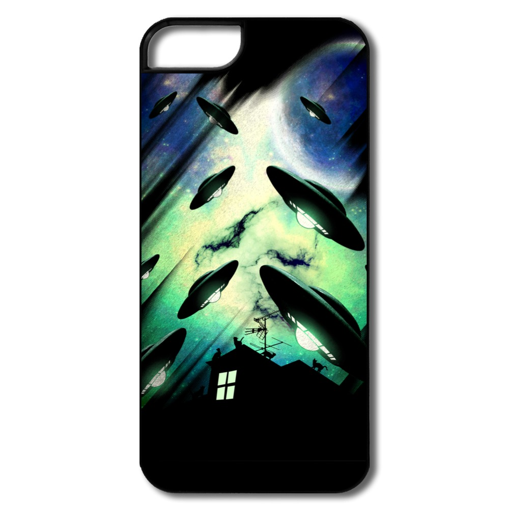 Funny Designed For Iphone Case 5s Ufo on the way Design Own 5 5s Cases Top Rated(China (Mainland))