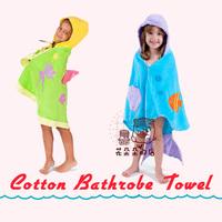 Free shipping angel  Mermaid child hooded bathrobe /cotton bathrobe / kids bath towel  Free Shipping