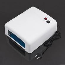 New 36W 220V Nail Art UV Salon Gel Curing Tube Light Dryer 4 X 9W Lamp