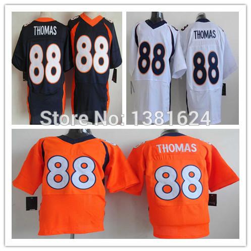 Free Shipping American Football Denver #88 Demaryius Thomas Jerseys,Men's Elite Orange/White/Blue,Size 40-56,Cheap wholesale.(China (Mainland))