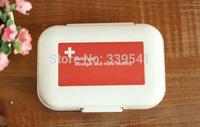 Free shipping Capsule box 8 kit mini PCS Portable  Plastic boxes jewelry Box Pill Box PVC Box