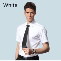 Hot High Quality Mens Fashion Unique Neckline Stylish Dress Short Sleeve Shirts Mens Dress Shirts Size: M-XXXL Free Shipping F19