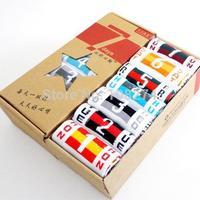 1box=7pairs 1set=5pairs New 2014 fashion high quality wide stripy mans socks colorful cotton sport polo men socks
