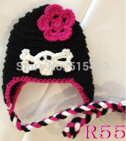 Free shipping Crochet Baby girl cap Baby Beanie Hat Handmade Skull Hat Knit Winter hats(China (Mainland))