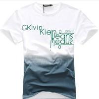 2014 Fashion t shirt camisa masculina camisetas masculinas t-shirt men moleton shirts Casual Slim Multicolor Letter Print Cotton