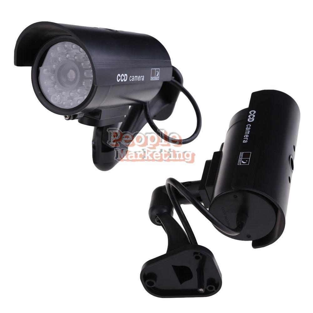 Outdoor Indoor Fake Surveillance Security Dummy Camera Night CAM LED Light P4PM(China (Mainland))