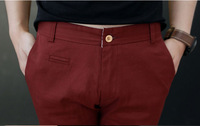 2014 male solid color fashion all-match capris slim capris summer straight shorts M-XXL free shipping