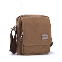 Man casual canvas shoulder messenger small messenger bag