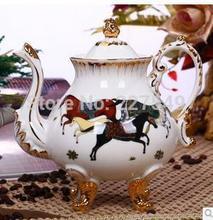 Luxurious ceramic coffee set ou ma tea pot of ceramic coffee cups and saucers gift set