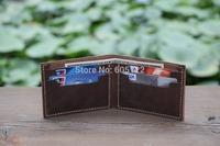 Men's Leather Wallet Minimalist Bifold Wallets Groomsmen Gift Leather Card Holder Case Billfold Short Wallet Birthday Gifts-R024