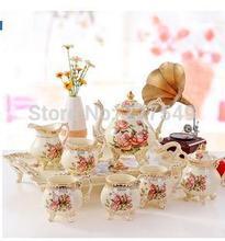 High grade ceramic coffee set ou tea set coffee pot Coffee cups and saucers wedding gift