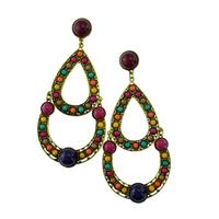 Wholesale Teardrop Beaded Bohemian Retro Women Fashion Luxury Dangle Earrings Jewelry Accessories. Indian Style Earring Design