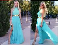 Sexy Backless Prom Evening Long Maxi Celebrity Dresses New 2014 Party vestidos Women cross halter chiffon dress