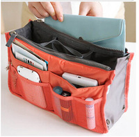 2014 New Fashion Lady's organizer bag multi functional cosmetic storage women handbag day clutches bolsas femininas 12 Colors