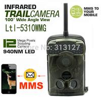 Free Shipping!Ltl Acorn 940nm Ltl-5310WMG 44 IR LED Trail SMS MMS GPRS hunting camera scouting camera cam 100 Degree Wide Angle